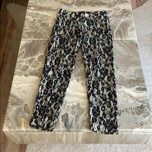 Black lacy pants